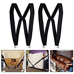 Lifting and Moving Straps, Material Handling Straps Forearm Forklift,Adjustable Moving Belt Harnesses with Cushions, Easily Move,Lift,Carry,Secure Furniture,Appliances,Heavy Objects Without Back Pain