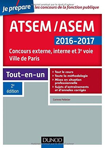 ATSEM/ASEM 2016-2017 - 2e éd. - Concours externe, interne et 3e voie, Ville de Paris