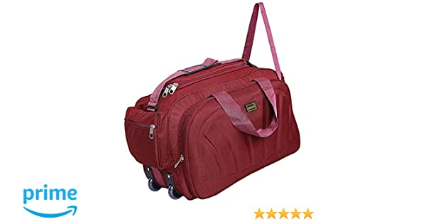 ... alfisha Unisex Polyester Lightweight Waterproof Travel Duffel Bag with Roller  Wheels (AFB-DUF, ... bed6cfe4b4