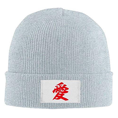 UUOnly Japanische Kanji AI Love Beanie Hüte Cool Wool Classic Flat Brim -