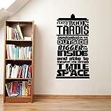 Sticker mural Caractère Sticker mural'Chaque livre est un Tardis' vinyle Citations Stickers Inspiration pour la décoration intérieure 42 * 88Cm