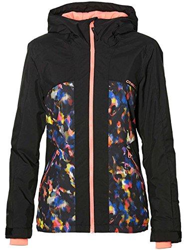 O'Neill Damen Snowboard Jacke Allure Jacket Black AOP w/pink, S Oneill Snowboard