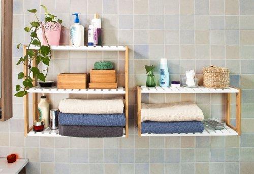 Mensola bagno per lavabo d appoggio in legno in vari colori