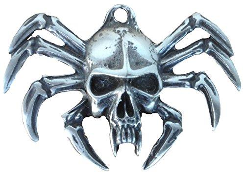 Ticila Unisex Damen Herren Anhänger Chrom Mode Schmuck GOTHIC SKULL SPIDER Alt Silber Farbe (Spiders 3d Dvd)