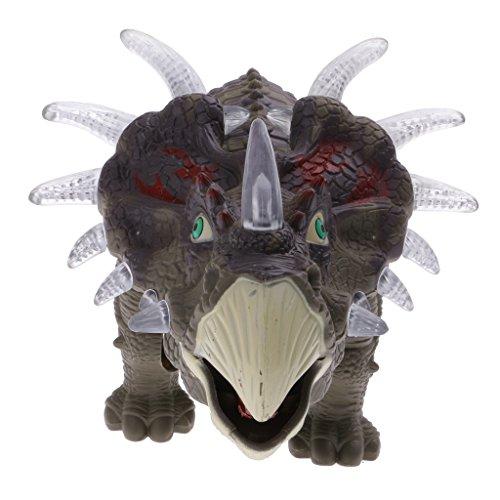 Juguete Animales Jurásico Luz Eléctrica Robot Dinosaurio Triceratops para el Cabrito
