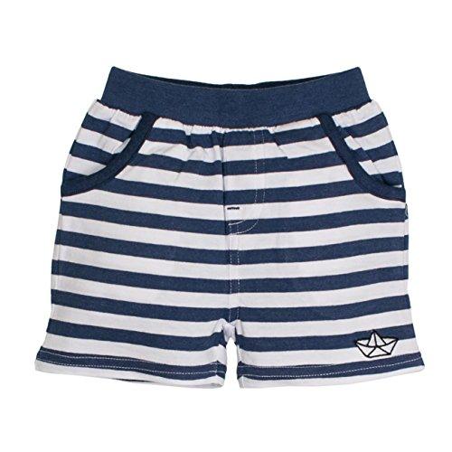 SALT AND PEPPER Baby-Jungen Shorts B Bermuda Pirat Stripe, Blau (Ink Blue Melange 481), 68