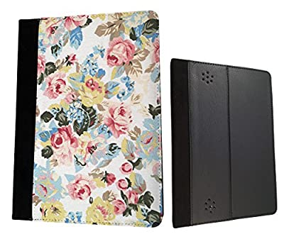 Vintage Shabby Chic Floral White Design Case Fashion Trend For All Amazon Kindle Fire Hd 7'' 2012 / Kindle Fire HD 7'' 2013 / Kindle Fire Hd 7'' 2014 / Kindle Fire HDX 7'' 2014 Tpu Leather full Case Flip Cover - Choose your Kindle model from the drop box