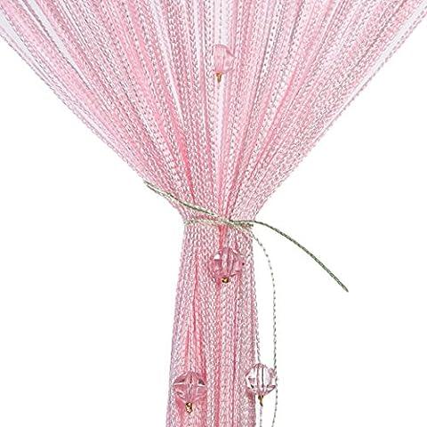 Perles Rideau, mieldorie® Perles Rideau de porte avec perles en cristal écran Panneau séparateur Home Decor