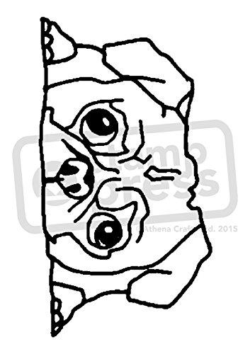 A7 'Schläfriger Mops' Stempel (Unmontiert) (SP00005441) (Gummi-stempel Mops)