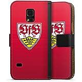 Samsung Galaxy S5 mini Tasche Hülle Flip Case VfB Stuttgart Fanartikel 1893 Fussball