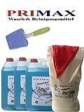 2x10 Ltr Flüssigwaschmittel 10Kg Waschpulver +Wundersprüher+ Microfasertuch