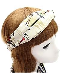 TININNA - Pañuelo para la cabeza, turbante, faja para el cabello, estilo vintage con diseño floral para mujeres y niñas