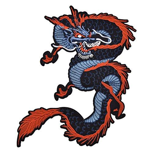 kesheng Parche de Dragón Termoadhesivo Bordado Chino para Costura DIY