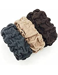 Premium Quality THICK Elastic Rubber Bands For Girls And Women Ponytail Holder Set Of 3 Pcs