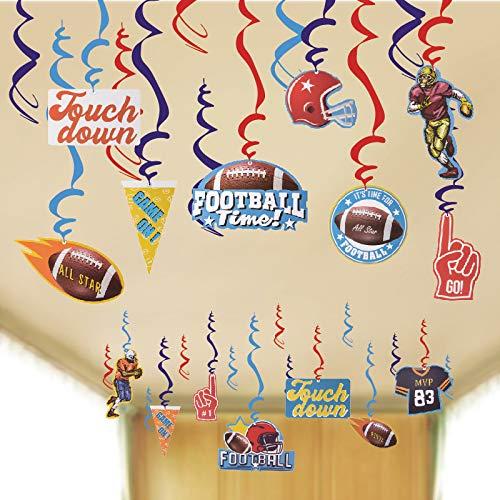 SUNBEAUTY Rugby Party 30er Folienspiralen Amerika Fussball Dekoration zum Soccer Party Junge (Spiralen)