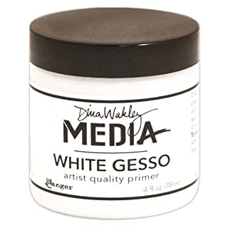 Dina Wakley Media 4 oz Gesso Jar, White