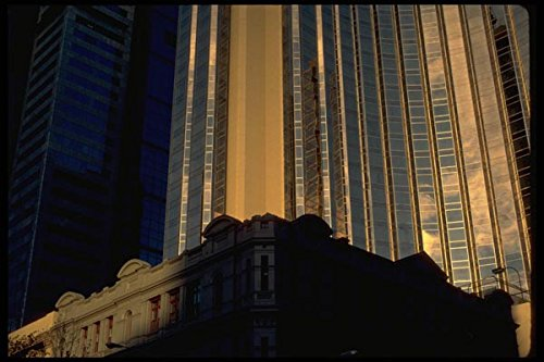 069077 Office Towers Melbourne Victoria A4 Photo Poster Print 10x8