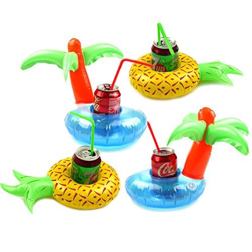 Preisvergleich Produktbild MS Aufblasbare Palm Island und Ananas-Getränk-Halter, Pool-Party-Getränk Floats CJ514