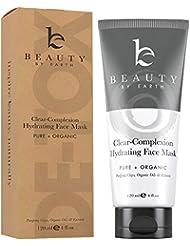 Masque visage. Soin pour le visage purifiant et hydratant - Traitement 100 % naturel et biologique contre l'acné, nettoie les boutons et les pores en profondeur. Pour hommes et femmes, convient aux peaux sèches, grasses ou sensibles. Fabriqué aux États-Unis par Beauty by Earth.