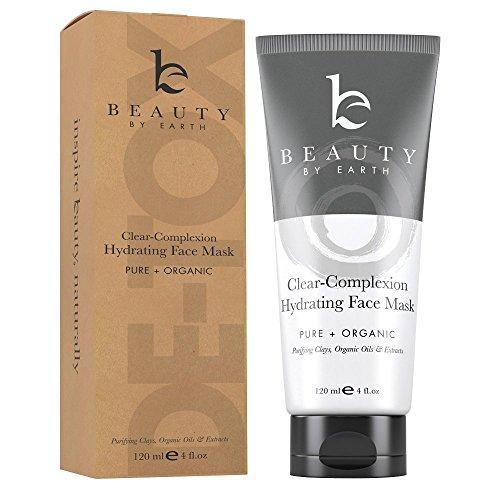 Gesichtsmaske - Hydrierende Tiefenreinigung Reinigungsmaske Schönheitsmaske mit Tonerde; rein Natürlich; Porentiefe Reinigung Gegen Mitesser und Akne; Maske Pflegt die Haut; für Damen, Herren & Teens