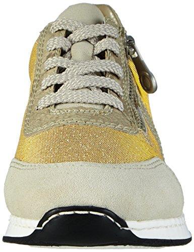 Rieker 56011 Women Low-Top, Sneaker Basse Donna Bianco (Weiß (ice/lightgold/hay / 80))