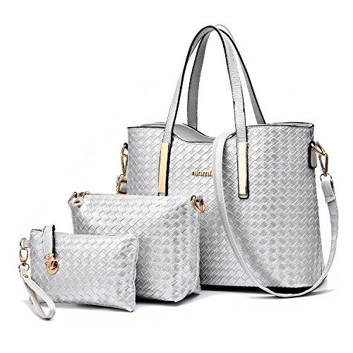 tibes-modo-dellunita-di-elaborazione-della-borsa-del-cuoio-shoulder-bag-purse-3pcs-bag-argento