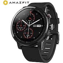 AMAZFIT Stratos 2 Smartwatch, Huami Reloj Inteligente con GPS, Versión Internacional, Funciona con