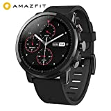 AMAZFIT Stratos 2 Smartwatch, 5 ATM Impermeabile Sports Orologio Fitness Intelligente con 2.5D Display Multi-Sports Funzione GPS Smart Watch