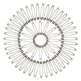 OKVGO Nickel Plated Steel Assorted Safety Pins with Full Selection of 10 Sizes
