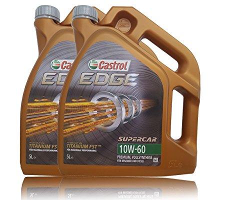 2 x 5 L = 10 litres de castrol edge 60 moteur 10W-fST carTechnic huile moteur-particularités :  moteur sAE 10W – 60, aCEA a3/b3/b4, a3–aPI sN cF, vW/501 01 505/00, non libération bMW m pas cher