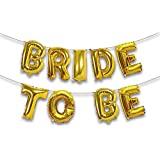Smartcraft Bride to be Foil Balloon - Gold,for Wedding Bridal Engagement Hen Party Favors Decorations, Bride to Be Decoration,Bachelor Party Decor