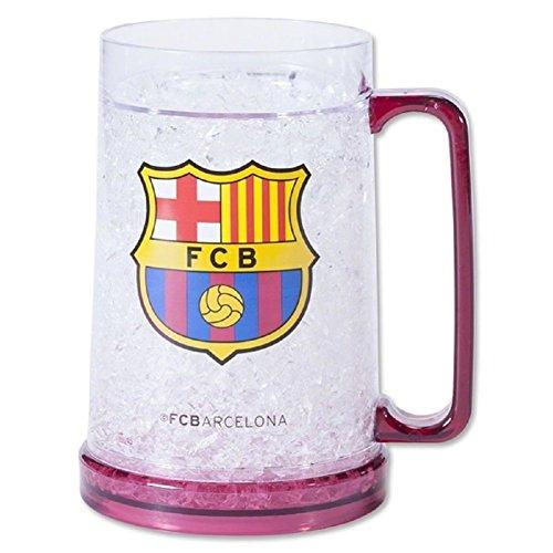 FC Barcelona Gefrierschrank Tasse-Gefrierschrank Bierkrug-Offizieller FC Barcelona Produkt-Ideal für alle Barca-Fans-Männer und Frauen Love diese Tasse - Mütze Offizielle Barcelona Messi Fc