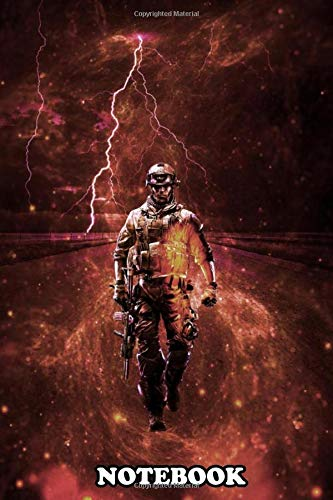 Notebook: Battlefield Soldier Shooter Video Game , Journal for Writing, College Ruled Size 6' x 9', 110 Pages