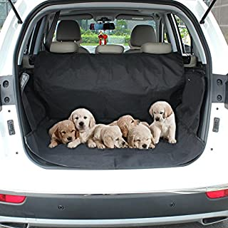 Aplus Dog Car Seat Cover, Waterproof & Scratch Proof & Nonslip Back Seat Cover, Dog Travel Hammock with Seat Anchors, Machine Washable, Durable, Universal fits All Cars, Pet Cover