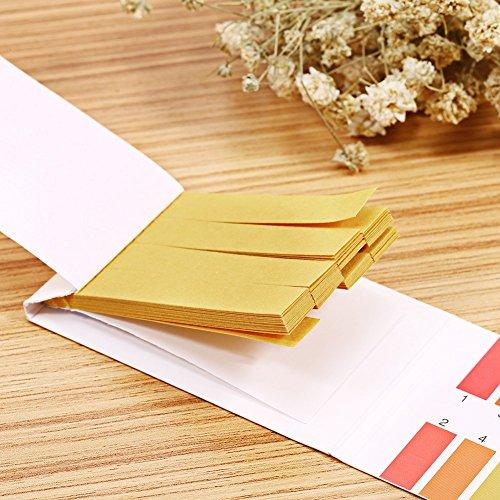80 Streifen pH-alkalisches Säure-Test-Papier der vollen Strecke, Universallackmus-Indikator-Teststreifen Wasser Lackmus-Test-Ausrüstung, pH-Strecke 1-14