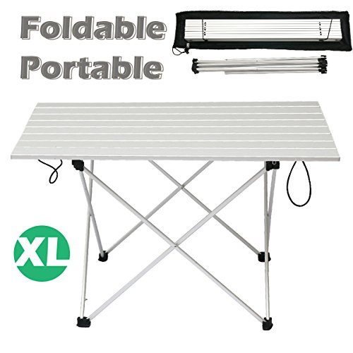 Triwonder Ultralight Aluminum Folding Camping Table Collapsible Portable  Roll Up ...