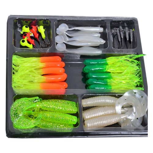 35-soft-baits-10-jig-head-lures-sets-outdoor-fishing-tackle-set