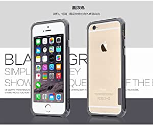 """TOTU Rainbow Ultra Thin Shockproof Hybrid Bumper Case Cover for Apple iPhone 6 4.7"""" - Black"""