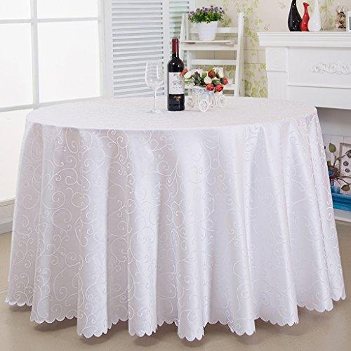 BSNOWF- Nappes Salle de réunion Banquet Rond Table de salle à manger Rectangle en tissu Rideaux de restaurant Garniture d'ameublement à l'hôtel Style européen ( taille : Round-340cm )