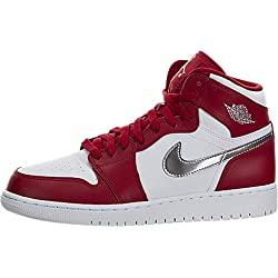 Nike Air Jordan 1 Retro High bg, Zapatillas de Baloncesto para Niños, Rojo (Rojo (Gym Red/Metallic Silver-White)), 36 1/2 EU