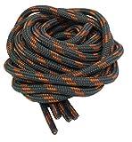 Lacets ronds épais et solides pour chaussures de randonnée–Plusieurs tailles disponibles (110-210 cm) - - Gris/orange, 140 cm