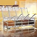 Acheter 2018-19 Hot Selling - Boîte de rangement en acrylique pour épices - 4 boîtes avec cuillères