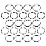 100 Stück Schlüsselring 15 mm Rund Metallspaltringe für Haus Schlüssel Organisation und Handwerk Machen, Silbern