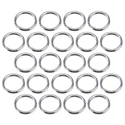 Foto de 100 Piezas Pequeña Anilla de Llave 15 mm Anilla Separada de Metal para Organización de Llaves de Hogar y Manualidades, Plateado