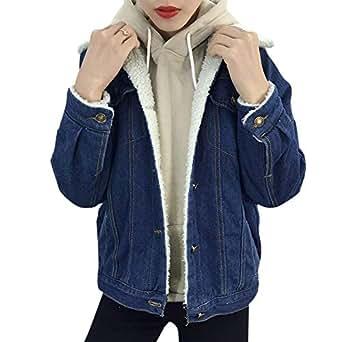 Bild nicht verfügbar. Keine Abbildung vorhanden für. Farbe  Jeansjacken  Elegant Damen Mode Jacket Winter Mit Fell Jungen Einreihig Revers Langarm  ... 3539eb55cb
