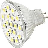 12vmonster Pack von 3warm weiß LED 4,5W MR16GU5.3Accent Lampe Birne Spot Lampe AC DC 12Volt Halogen Ersatz 5050LED X 18Cluster