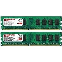 Komputerbay 4GB 2x 2GB DDR2 800MHz PC2-6300 PC2-6400 DDR2 800 (240 PIN) DIMM Desktop-Speicher 1.8v