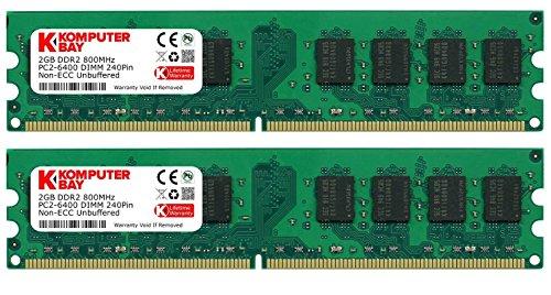 Komputerbay KB 4GB - Memoria RAM DDR2