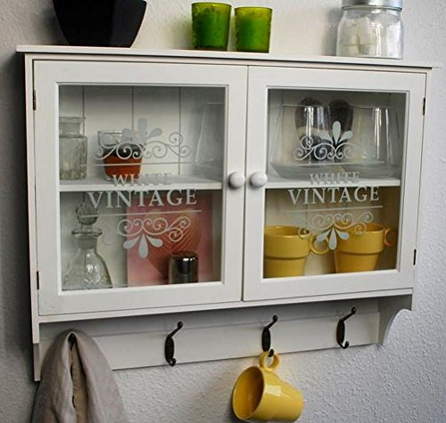 Eine Schublade Schrank Fertig (Livitat® Wandschrank Küchenregal Hängeschrank Glastüren Landhaus Schrank SP65)