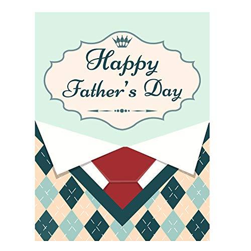 Grüne Gesponnene Krawatte (ALAZA Happy Father 's Day Polyester Garten Yard Flagge 30,5x 45,7cm Twin Seiten, Menswear mit Rot Krawatte Shirt Deko Flagge Banner für Outdoor Home Decor Party)